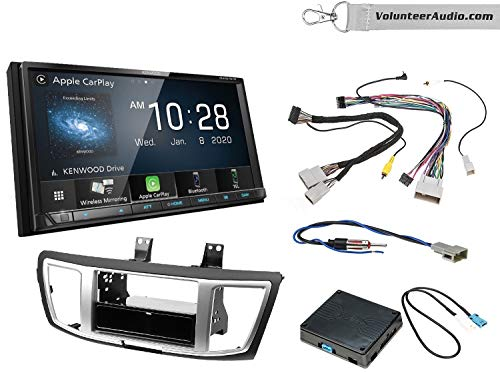 Kenwood DMX9707S Double Din Radio Install Kit With Apple CarPlay, USB/AUX, Built-In 13 Band Equalizer Fits 2013-2017 Honda Accord