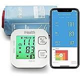 iHealth Track Vernetztes Oberarm-Blutdruckmessgerät, mit einer einstellbaren Universal-Manschette für normale bis große Erwachsenenarme, Bluetooth-kompatibel mit Apple- und Android-Geräten
