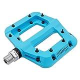 FOOKER MTB Pedals Mountain Bike Pedals 3 Bearing Non-Slip Lightweight Nylon Fiber Bicycle Platform Pedals for BMX MTB 9/16'