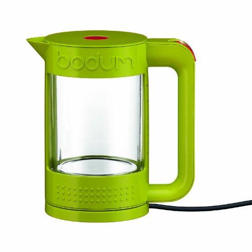 Bodum Bistro 11445-565 Transparenter Wasserkocher doppelwandig 1,1 l Glas/Kunststoff Grün
