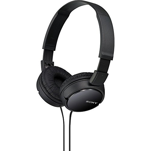 Sony MDR-ZX110 Wired On Ear Headphone without Mic (Black)