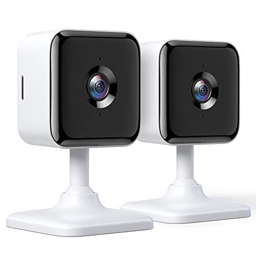 Telecamera di sicurezza domestica intelligente Wi-Fi da interni Teckin Cam 1080P FHD con visione notturna, audio a 2 canali, rilevamento del movimento, utilizzabile con Alexa e Google Home-2pack