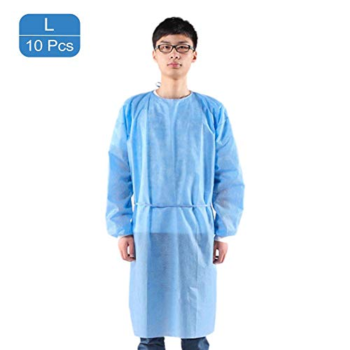 Disposable Protective Coverall | Personal Protection Isolation Gown | Indoor Outdoor Dustproof Coverall | Anti-Fog Anti-Particle,Unisex