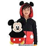Cubcoats Mickey Mouse - 2-in-1 Transforming Sweatshirt & Soft Plushie - Red & Black