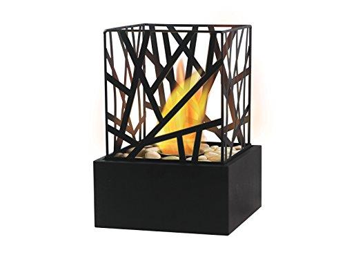 PURLINE AMALTEA Bioethanol fireplace for indoor or outdoor use with modern black design