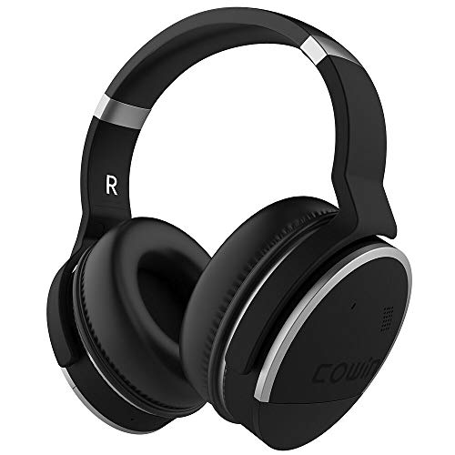 COWIN E8 Active Noise Cancelling Headphones Bluetooth Headphones Wireless Headphones Over Ear with Microphone Hi-Fi Deep Bass 20H Playtime for Travel Work TV Computer Cellphone -Silver