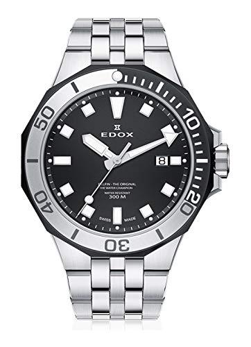 Edox Herren-Armbanduhr Delfin - The Original Datum Analog Quarz 53015 357NM NIN