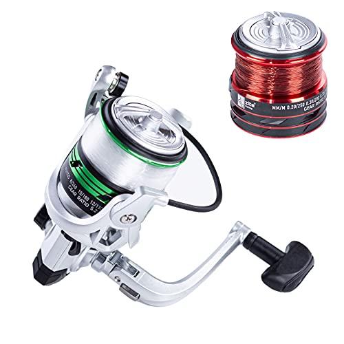 Zite Fishing Mulinello con lenza  Mulinello da pesca per trote con 2 bobine in alluminio