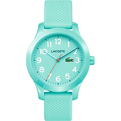 Lacoste Unisex-Kinder Datum klassisch Quarz Uhr mit Silikon Armband 2030005