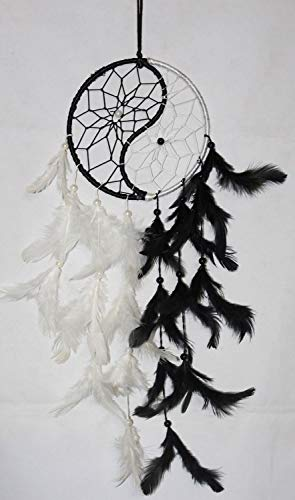 odishabazaar Down & Feather-Fill Dream Catcher (24 inch hanging length:6 inch, plastic, Multicolour)