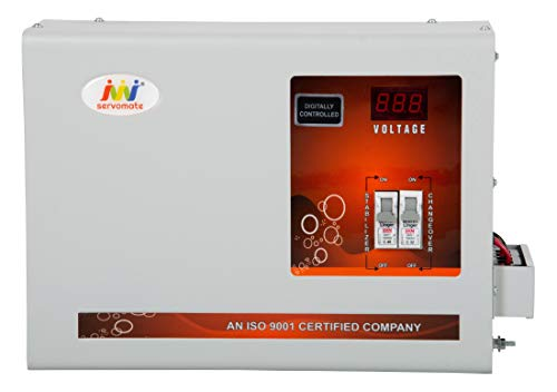 Servomate 5KVA (90v-300v)100% Copper Heavy Duty Mainline Automatic Voltage Stabilizer for All Home...