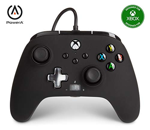Verbesserter kabelgebundener PowerA-Controller für Xbox– Schwarz - Gamepad, kabelgebundener Videospiel-Controller, Gaming-Controller, Xbox Series X S