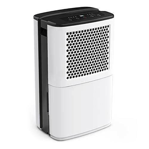 AIRPLUS 50 Pints Dehumidifier, High-Efficiency Dehumidifiers for Basements, Removing Moisture Quickly with Continuous Drainage & Auto Shutoff, Multifunctional Dehumidifiers for Home,Two-Way Timing