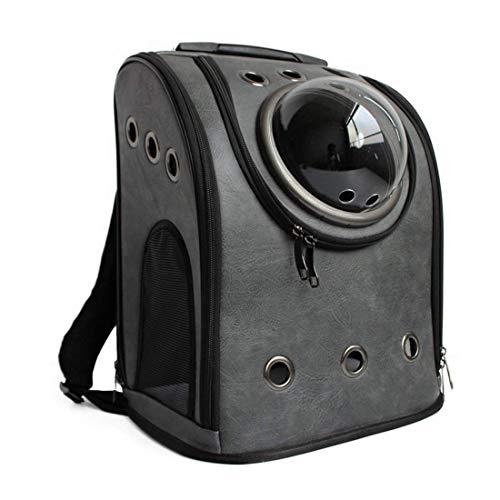 Petforu Pet Carrier Backpack, Space Capsule Dog Cat Small Animals Travel Bag - Dark Grey