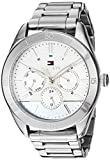 Tommy Hilfiger Women's Quartz Watch with Stainless Steel Strap, Silver, 19.2 (Model: 1781882)