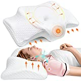 Pulatree Ergonomic Cervical Memory Foam Pillow, Odorless Contour Neck Pillows for Pain Relief, Orthopedic Support Pillows for Sleeping with Cooling Cover, Bed Pillow for Side, Back, Stomach Sleepers