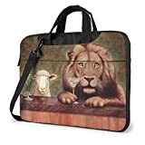 Bolsa de hombro para portátil de 13 pulgadas, maletín de piel de oveja