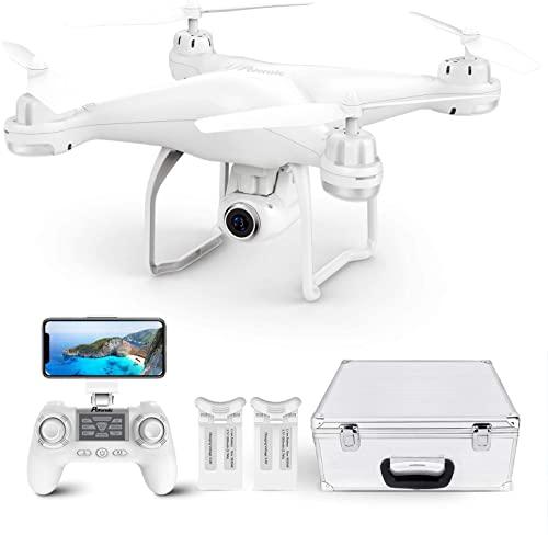 Drone GPS con Telecamera 2K, Potensic T25 Drone GPS FPV WiFi Trasmissione, Drone Telecamera 120  Grandangolo Regolabile, Droni 9 Assi Giroscopio, Drone Professionale per Adulti, 2 Batterie + Valigia