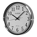 Professional house WT-3126B La Crosse Technology 12' Stainless Steel Frame Atomic Analog Wall Clock