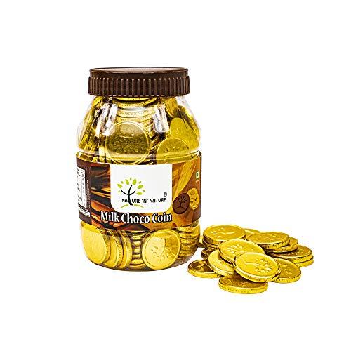 NATURE 'N' NATURE Gold Coin Milk Chocolates, 350gms Pet Jar, 150 pcs