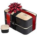 UMAMI Lunch Box Premium - Inclus : 1 Pot À Sauce & 3 Couverts - Boîte Bento...