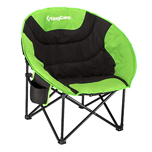 KingCamp Moon Saucer Camping Chair Cup Holder Steel Frame...
