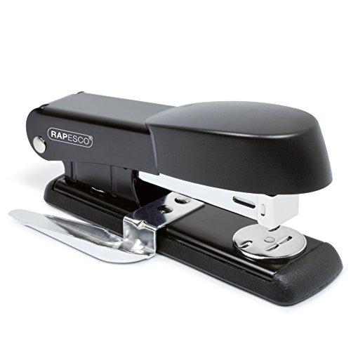 Rapesco Bowfin cucitrice da tavolo con levapunti integrato (nero)