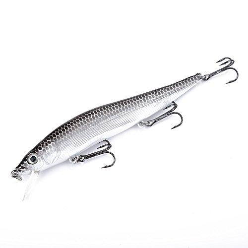 Esca per Pesciolini, 1Pcs Long Tail Fishing Artificial Vivid Bait Realistica Minnow Lures Accessorio per Pesci Esche Artificiali per Esche da Pesca Realistiche Esche per Esche Vive(A)