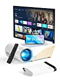 YEHUA Mini Projector with WiFi and Bluetooth,4k Portable Projector HD 1080P and 200'...
