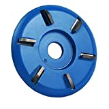 6 Teeth Wood Carving Disc Grinder Shaping Disc for Angle Grinder Woodworking Blue