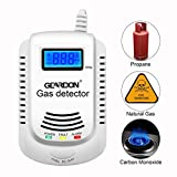 Gas Detector, GEARDON Plug-in Home Natural Gas/Methane/Propane Alarm, Leak Sensor Detector with Voice Promp and LED Display