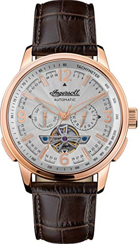 Ingersoll Men's The Regent Analogue Classic Automatic Watch with Leather Strap I00303B