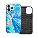 Case Compatible with iPhone 12mini Case 5.4Inches Holographic Iridescent Surface Wrinkled Foil Pastel Case For iPhone 12 Protector Shockproof Flexible TPU Bumper and Transparent Hard Pc Back