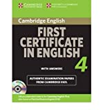 Cambridge First Certificate in English 4: Official Examination Papers from University of Cambridge ESOL Examinations [With CDROM] (Cambridge Books for Cambridge Exams) [ CAMBRIDGE FIRST CERTIFICATE IN ENGLISH 4: OFFICIAL EXAMINATION PAPERS FROM UNIVERSITY OF CAMBRIDGE ESOL EXAMINATIONS [WITH CDROM] (CAMBRIDGE BOOKS FOR CAMBRIDGE EXAMS) ] By Cambridge University Press ( Author )Nov-08-2010 Paperbac