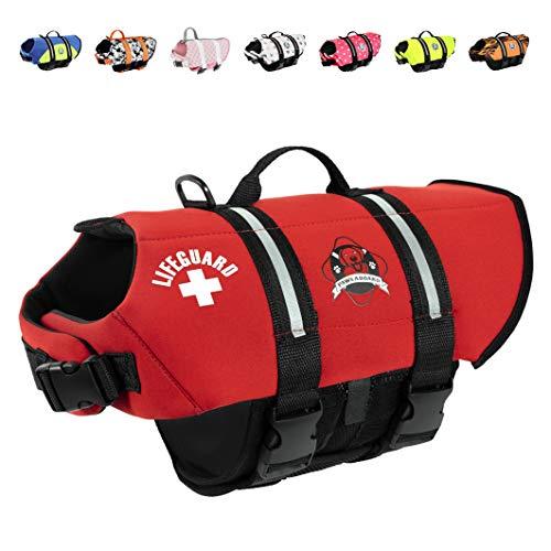 Paws Aboard Dog Life Jacket, Neoprene Dog Life...