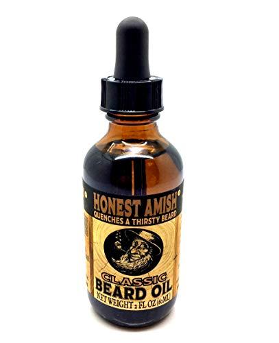 Honest Amish Olio da barba classico - 2 once