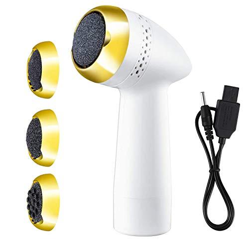 Elektrischer Hornhautentferner Fußfeile WiederaufladbarFuß-Dateien für Pediküren mit integriertem Vakuum Fußmaschine Callus Remover Pedicure Shaver Fuß Exfoliator USB aufladbare Pflege Werkzeugen