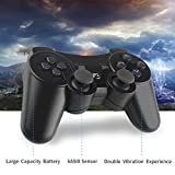 ZSJZHB PS3 Double-Shock Wireless Bluetooth Controller, PS3 Controller, for Sony PS3 Playstation 3, Dual-Shock Six-Channel Remote Game Controller