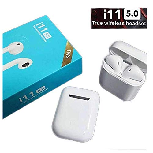 Gadget India Bazaar i11 TWS 5.0 Wireless Earphone with Portable Charging Case Supporting All Smart Phones and Android Phone with Sensor