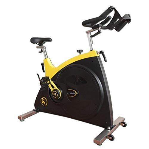 Spinning bike Indoor Exercise Bike Silent Shock Absorption Stepless Resistance Adjustment Adjustable Handles Home Outdoor Gym 1 Piece Yellow 10358114 cm 1