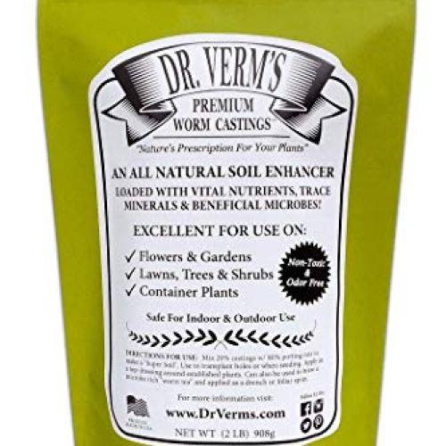 Dr. Verm's Premium Worm Castings - Organic Soil Builder and Fertilizer