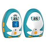 TimeFlys Digital Audio Baby Monitor Mustang OL, Long Range up to 1000 ft, Two-Way Talk, Temperature Monitoring and Warning, Lullabies, Vibration, LCD Display, Rechargeable Battery, Night Light