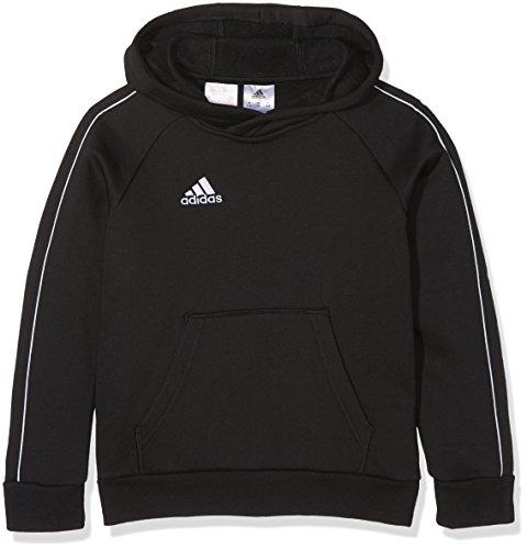 adidas Core 18 K, Felpa con Cappuccio Unisex Bambini, Nero (Black/White), 152 (11-12 Y)