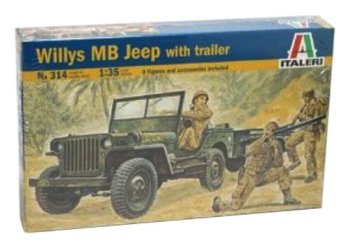 Italeri Willys MB Jeep with Trailer