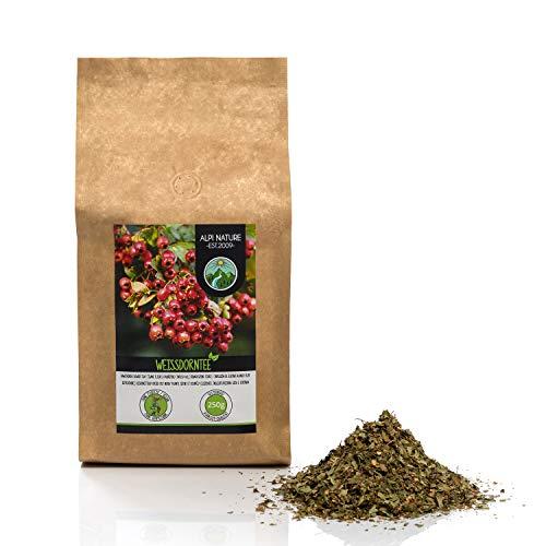 Weissdorn Tee (500g), geschnitten, schonend getrocknet, Heckendorn 100% rein und naturbelassen zur Zubereitung von Tee, Kräutertee, Weissdorntee