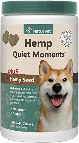 NaturVet Quiet Moments Calming Aid Dog Supplement,...