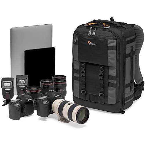 Lowepro LP37268-PWW Pro Trekker BP 350 AW II Kamerarucksack mit MaxFit Einteilern, für 15-Zoll-Laptop/iPad, spiegellose Profikamera/DSLR, Sony, Canon, Nikon, Gimbal, Drohne, DJI, schwarz/dunkelgrau