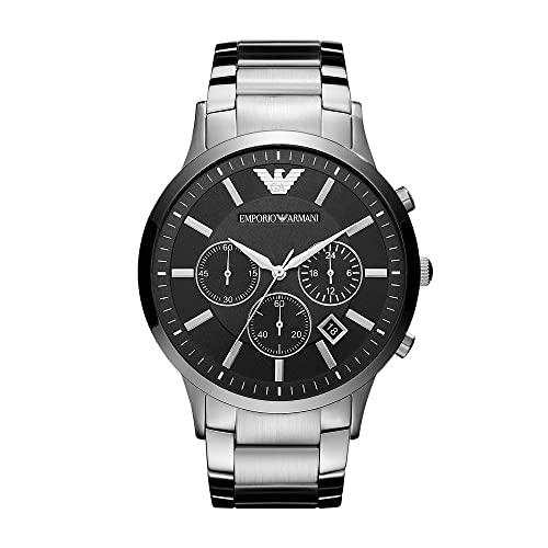 Emporio Armani Herren Chronograph Quarz Uhr mit Edelstahl Armband AR2460