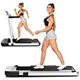 Wikole Folding Treadmills for Home,2-in-1 Folding Treadmill with App Control,2.25hp Electric Running Machine for Home,Gym,Office,No Assembly Required