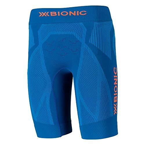 X-Bionic Herren The Trick 4.0 Running Shorts, Teal Blue/kurkuma orange, XL